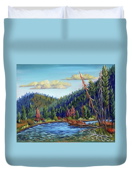 Salmon River - Stanley Duvet Cover