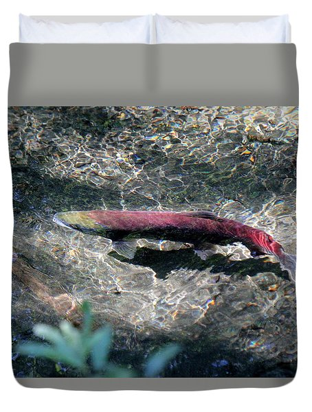 Salmon Duvet Cover