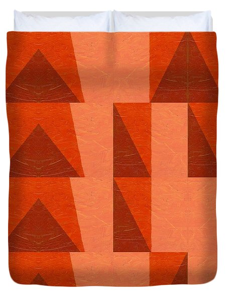 Salmon With Red And Brown Duvet Cover by Michelle Calkins