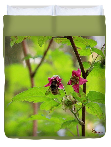 Salmonberry Honey Duvet Cover