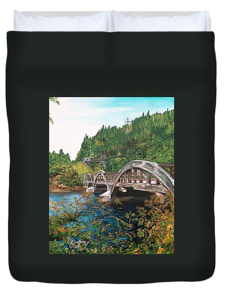 Salmonier River Newfoundland  Duvet Cover