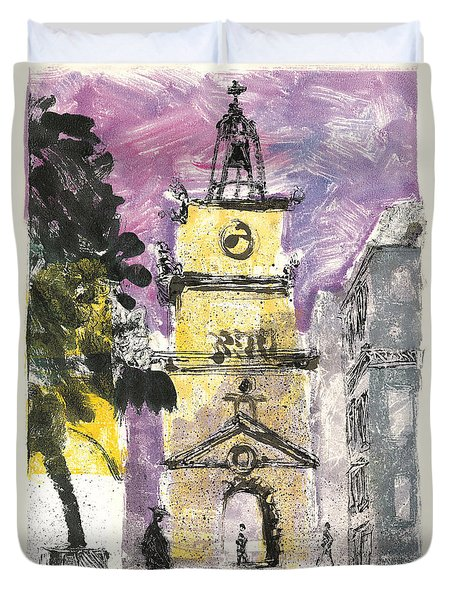 Duvet Cover featuring the painting Salon De Provence by Martin Stankewitz