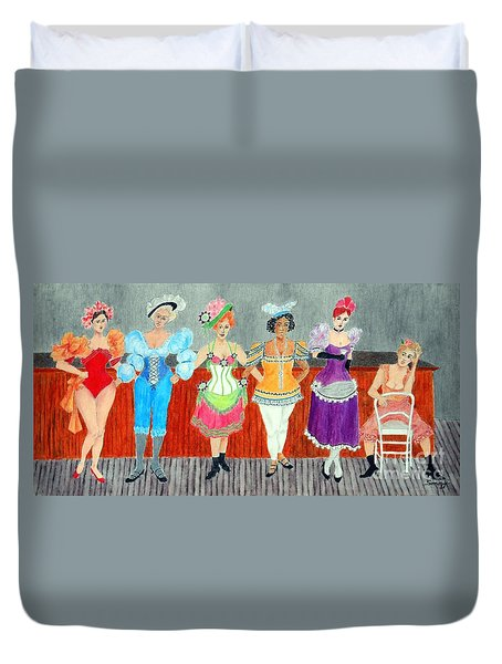 Saloon Sextet -- Portrait 1890's Women In Old West Duvet Cover