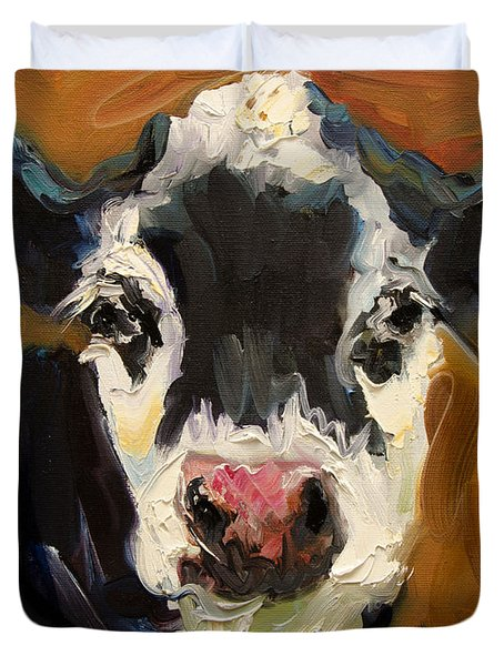 Salt And Pepper Cow Duvet Cover