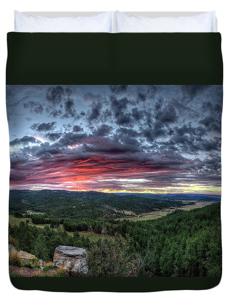 Salt Creek Sunrise Duvet Cover