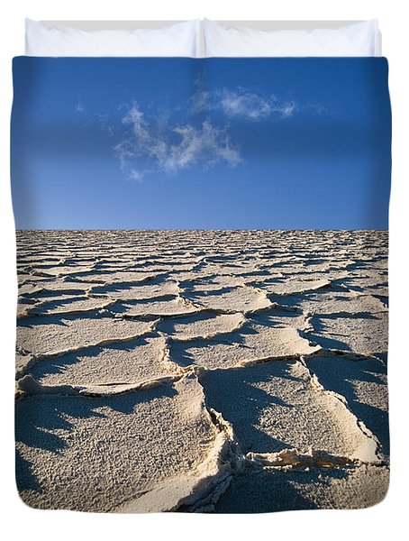 Salt Flats Death Valley National Park Duvet Cover