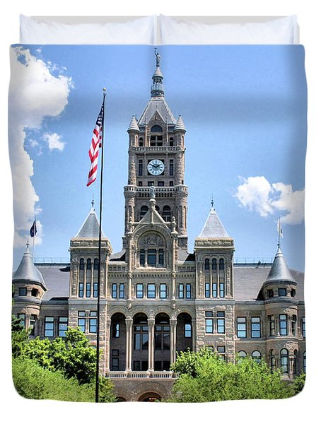 Salt Lake City County Building Duvet Cover