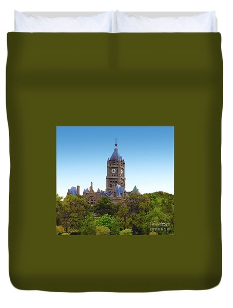 Salt Lake City Hall Duvet Cover