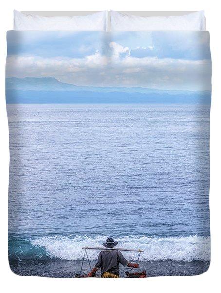 Salt Making - Bali Duvet Cover