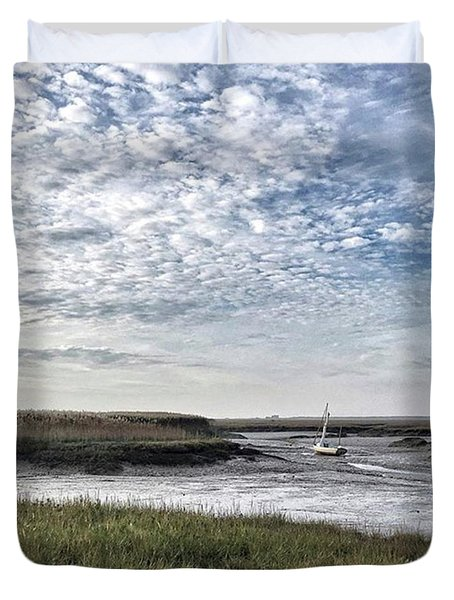 Salt Marsh And Creek, Brancaster Duvet Cover