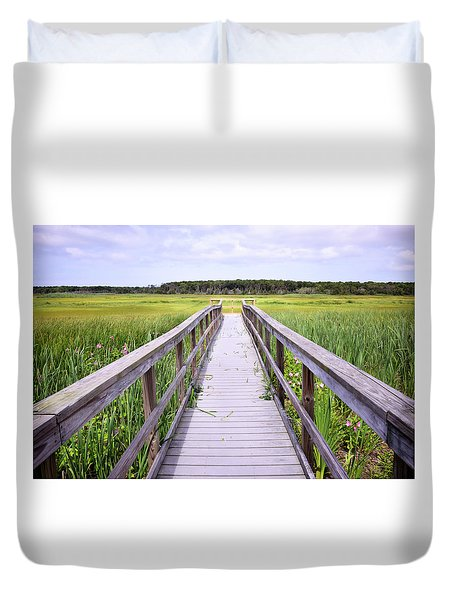 Salt Marsh Boardwalk Duvet Cover