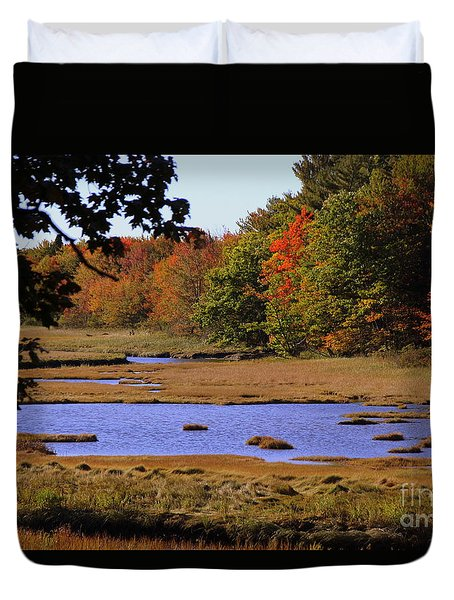 Salt Marsh River Duvet Cover