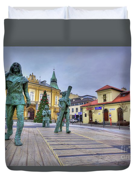 Duvet Cover featuring the photograph Salt Miners Of Wieliczka, Poland by Juli Scalzi
