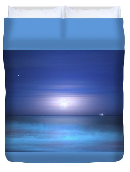 Duvet Cover featuring the photograph Salt Moon by Mark Andrew Thomas