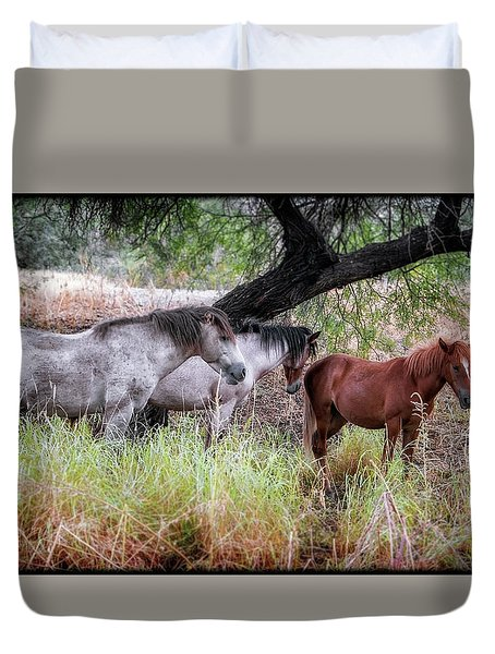 Salt River Wild Horses Duvet Cover