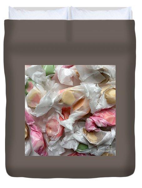Salt Water Taffy Pastel Lusciousness No. 1 Duvet Cover by Patricia E Sundik
