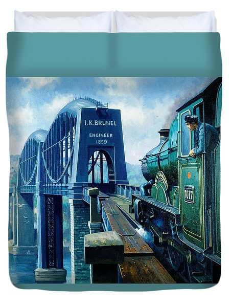 Saltash Bridge. Duvet Cover