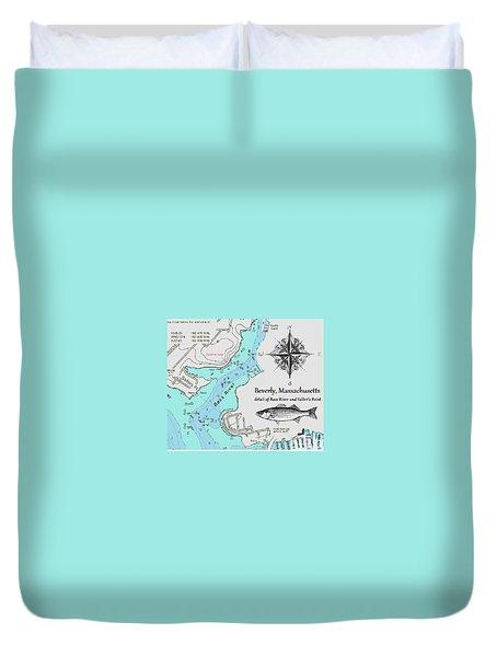 Salter's Point Map Duvet Cover