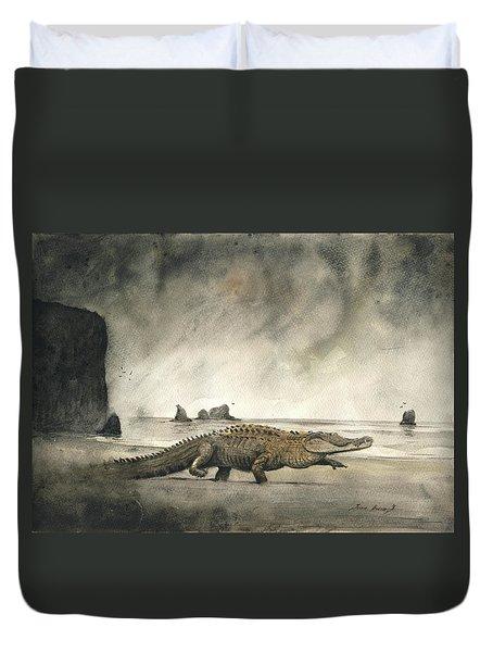 Saltwater Crocodile Duvet Cover
