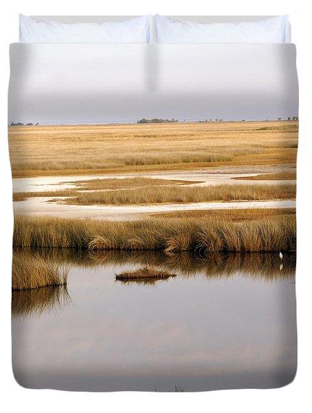 Saltwater Marsh Duvet Cover by Marty Koch