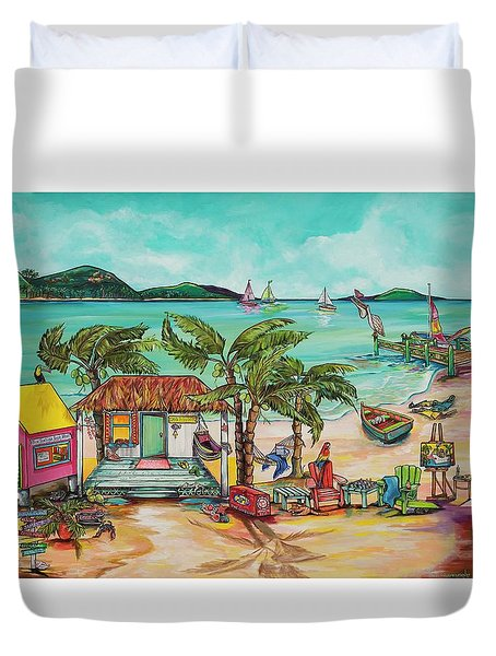 Salty Kisses And Star Fish Wishes Duvet Cover