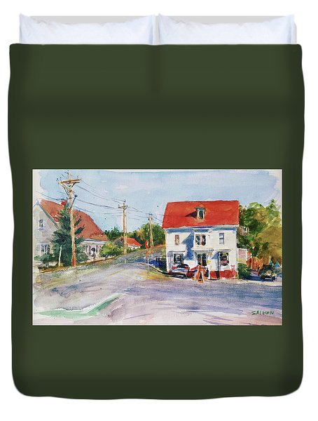 Salty Market, North Truro Duvet Cover by Peter Salwen
