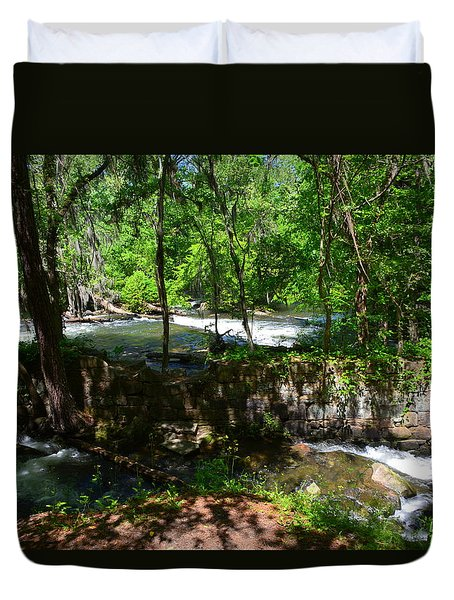 Duvet Cover featuring the photograph Saluda River Columbia Sc by Lisa Wooten