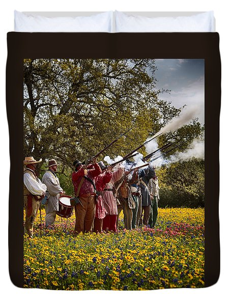 Salute To Texas Independence Duvet Cover