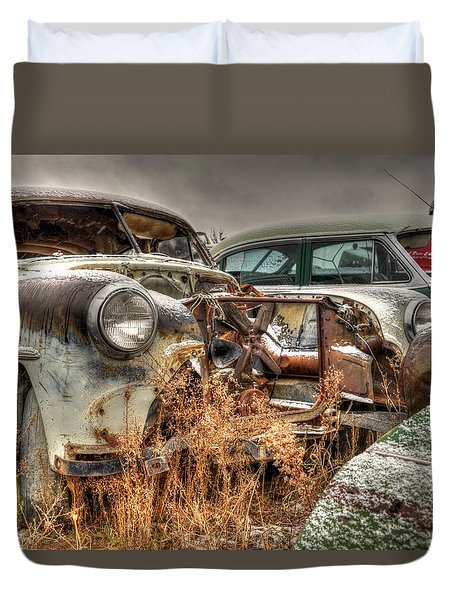Salvage Time Duvet Cover