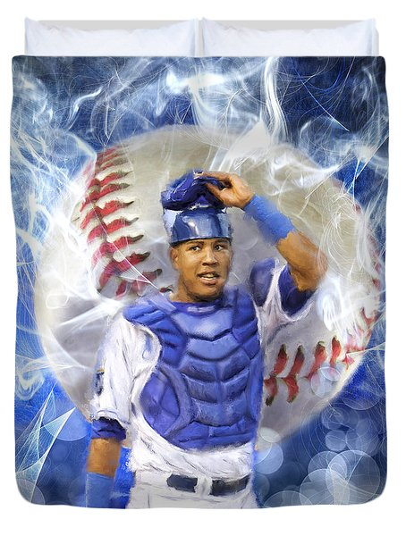 Salvy The Mvp Duvet Cover by Colleen Taylor