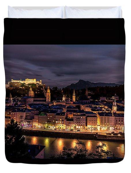 Duvet Cover featuring the photograph Salzburg Austria by David Morefield