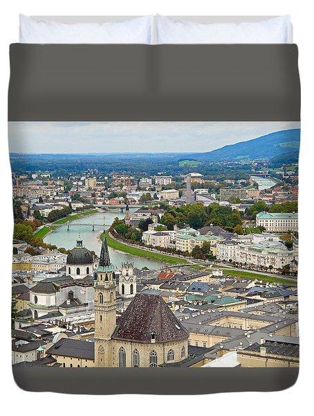 Salzburg From Hohensalzburg Castle Duvet Cover