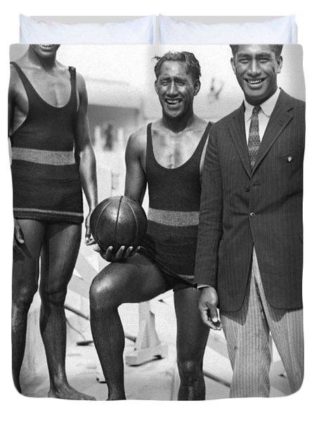 Sam, Dave And Duke Kahanamoku Duvet Cover