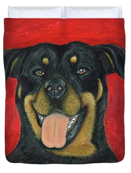 Sam The Rottewieler Duvet Cover