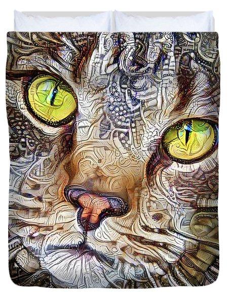 Sam The Tabby Cat Duvet Cover