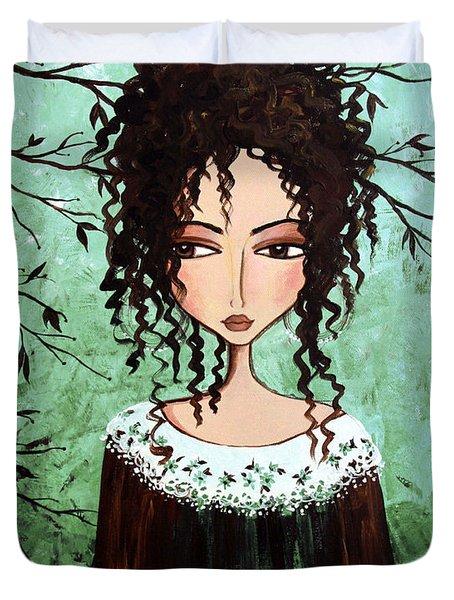 Samantha's Chocolate Tree Duvet Cover