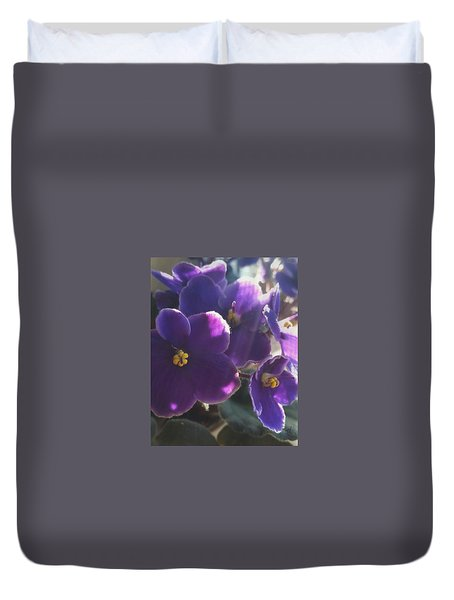 Samara's Flowers Duvet Cover by Jim Vance