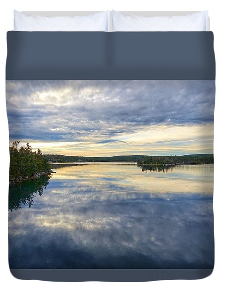 Sambro Basin I Nova Scotia Duvet Cover by Heather Vopni