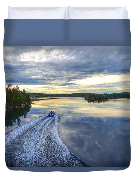Sambro Basin II Nova Scotia Duvet Cover by Heather Vopni