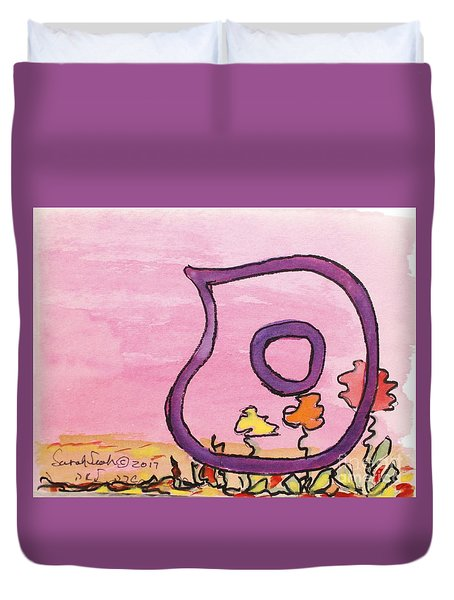 Samech And Flowers Duvet Cover