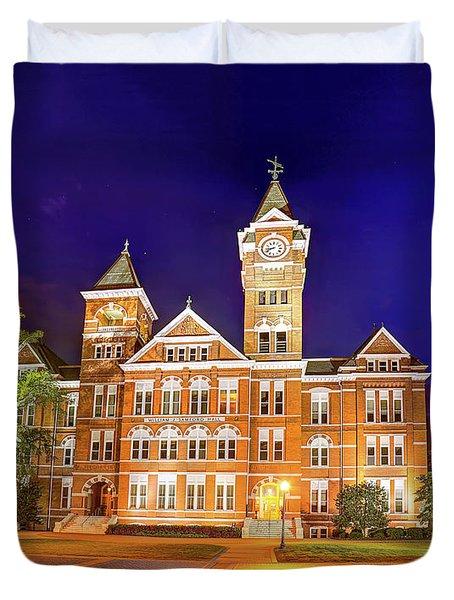 Samford Hall At Night Duvet Cover