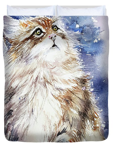 Sammy On Snow Duvet Cover