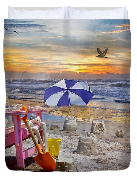 Sam's  Sandcastles Duvet Cover