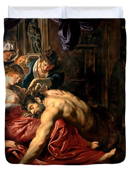 Samson And Delilah Duvet Cover by Peter Paul Rubens