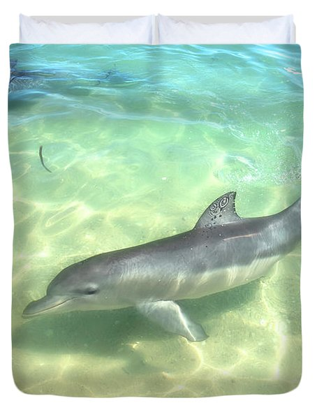 Samu 1 , Monkey Mia, Shark Bay Duvet Cover