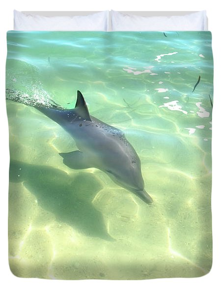 Samu 3 , Monkey Mia, Shark Bay Duvet Cover