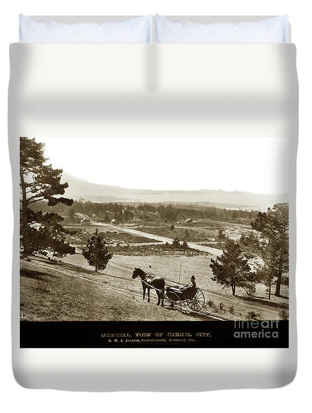 Samuel J. Duckworth Pauses To Look Upon What Would Become Carmel 1890 Duvet Cover