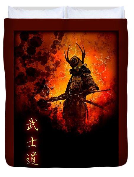 Samurai Bushido Warrior Duvet Cover