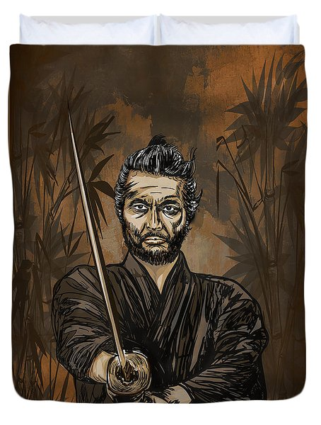 Samurai Warrior. Duvet Cover