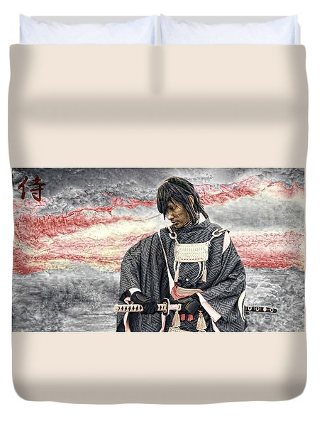 Samurai Warrior Duvet Cover